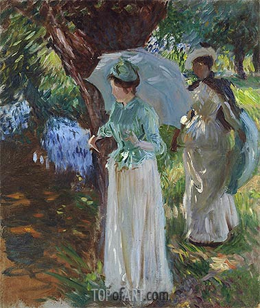 Two Girls with Parasols, 1888 | Sargent | Gemälde Reproduktion