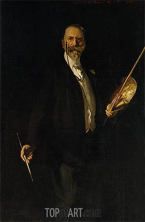 Portrait of William Merritt Chase, 1902 | Sargent | Gemälde Reproduktion