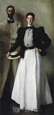 Mr. and Mrs. I. N. Phelps Stokes, 1897 | Sargent | Gemälde Reproduktion