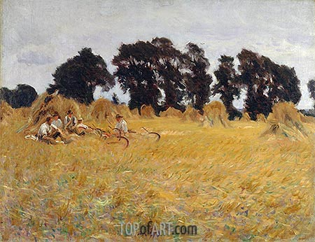Reapers Resting in a Wheat Field, 1885   Sargent   Painting Reproduction