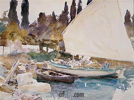 Boats, 1913 | Sargent | Painting Reproduction