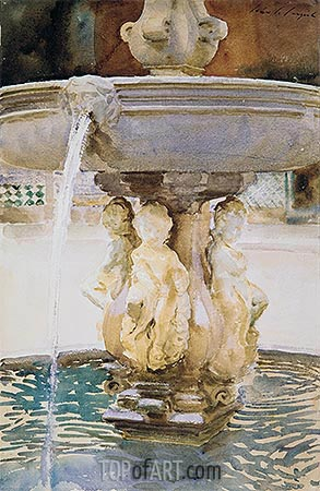 Spanish Fountain, 1912 | Sargent | Painting Reproduction