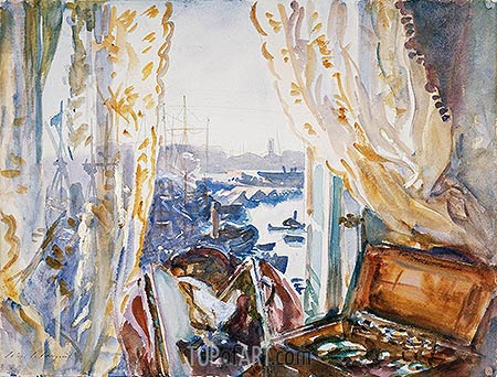 View from a Window, Genoa, c.1911 | Sargent | Gemälde Reproduktion