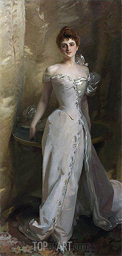 Portrait of Lisa Colt Curtis, 1898 | Sargent | Painting Reproduction
