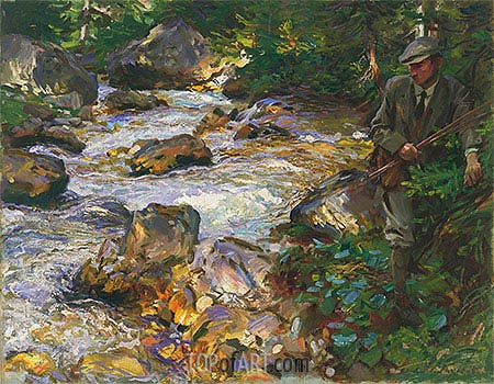 Trout Stream in the Tyrol, 1914 | Sargent | Painting Reproduction