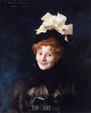 Madame Escudier, c.1883 | Sargent | Painting Reproduction