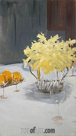 Still Life with Daffodils, c.1885 | Sargent | Painting Reproduction