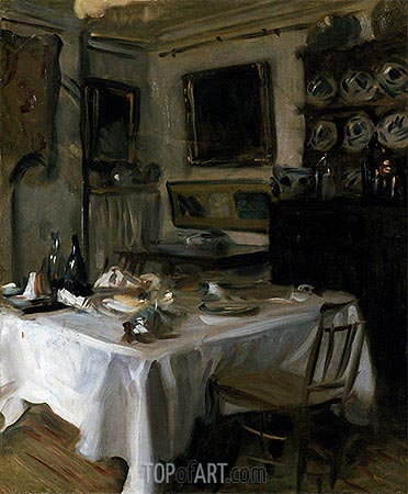 My Dining Room, c.1883/86 | Sargent | Painting Reproduction