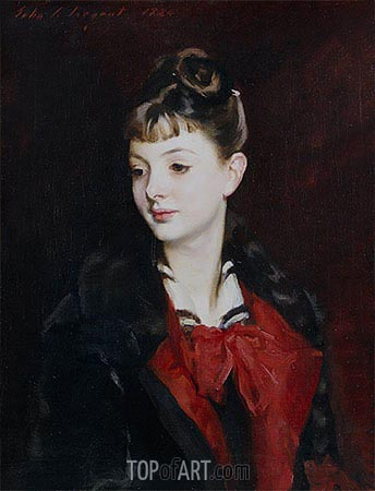 Portrait of Mademoiselle Suzanne Poirson, 1884 | Sargent | Painting Reproduction
