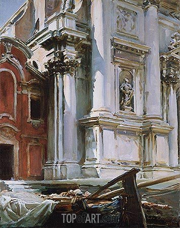 Church of St. Stae, Venice, 1913 | Sargent | Painting Reproduction