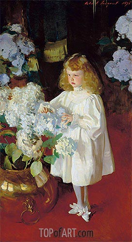 Helen Sears, 1895 | Sargent | Painting Reproduction