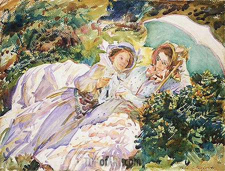Simplon Pass: The Tease, 1911 | Sargent | Painting Reproduction