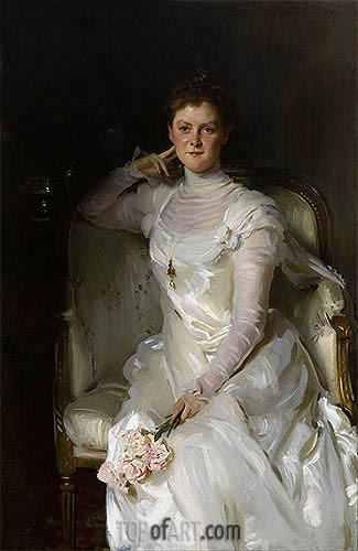 Mrs. Joshua Montgomery Sears, 1899 | Sargent | Gemälde Reproduktion