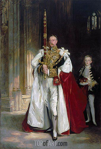 Charles Stewart, Sixth Marquess of Londonderry, Carrying the Great Sword of State at the Coronation of King Edward VII, 1904 | Sargent | Gemälde Reproduktion