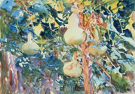 Gourds, c.1905 | Sargent | Painting Reproduction