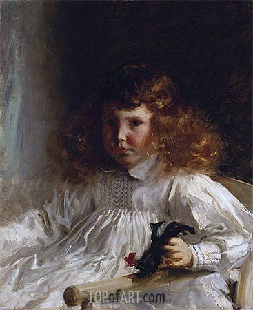 Portrait of Leroy King as a Young Boy, 1888 | Sargent | Gemälde Reproduktion