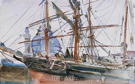 Rigging, c.1905/06 | Sargent | Painting Reproduction
