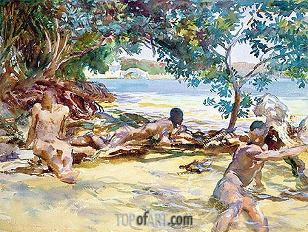 The Bathers, undated | Sargent | Painting Reproduction