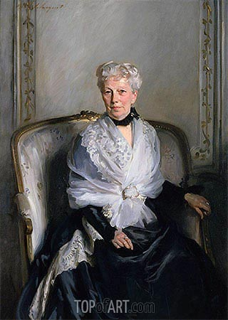 Mrs Edward Goetz, undated | Sargent | Painting Reproduction
