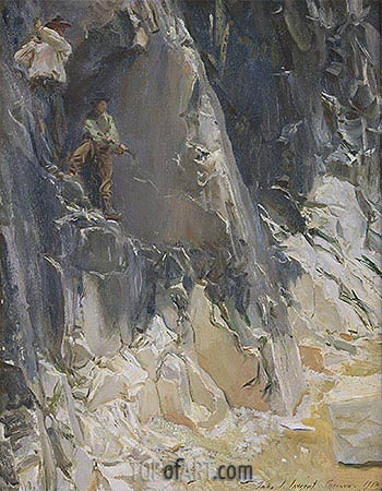 Marble Quarries at Carrara, 1913   Sargent   Painting Reproduction