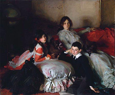 Essie, Ruby and Ferdinand, Children of Asher Wertheimer, 1902 | Sargent | Gemälde Reproduktion