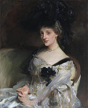 Mrs Philip Leslie Agnew, 1902 | Sargent | Painting Reproduction