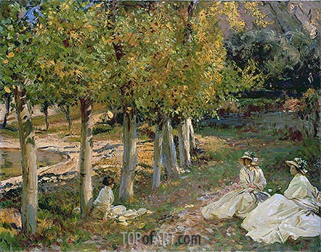 Autumn Leaves, 1913 | Sargent | Painting Reproduction