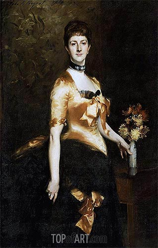 Edith, Lady Playfair (Edith Russell), 1884 | Sargent | Gemälde Reproduktion