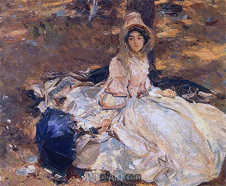 The Pink Dress, 1912 | Sargent | Painting Reproduction