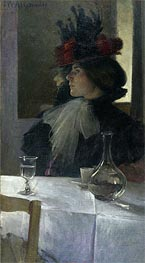 In the Cafe, 1898 by John White Alexander | Painting Reproduction