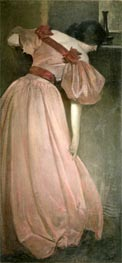 Portrait Study in Pink (The Pink Gown), 1896 by John White Alexander | Painting Reproduction