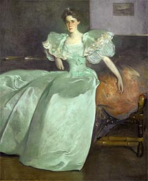 Miss Helen Manice, 1895 by John White Alexander | Painting Reproduction