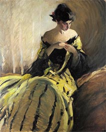Study in Black and Green, c.1906 by John White Alexander | Painting Reproduction