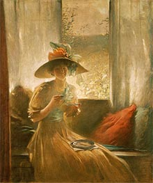 The Gossip, 1912 by John White Alexander | Painting Reproduction