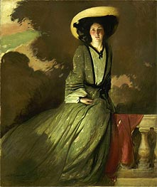 Portrait of Mrs. John White Alexander, 1902 by John White Alexander | Painting Reproduction