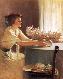 A Meadow Flower | John White Alexander | Painting Reproduction
