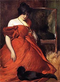 Black and Red, 1896 by John White Alexander | Painting Reproduction