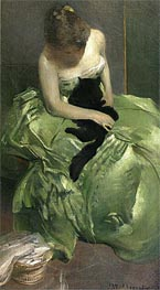 The Green Dress, c.1890/99 by John White Alexander | Painting Reproduction