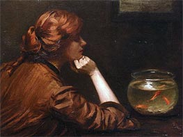 An Idle Moment, c.1885 by John White Alexander | Painting Reproduction