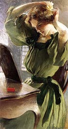 Young Woman Arranging Her Hair | John White Alexander | Painting Reproduction