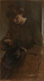 A Toiler, c.1898 by John White Alexander | Painting Reproduction