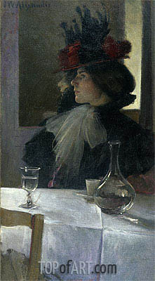 In the Cafe, 1898   John White Alexander   Painting Reproduction
