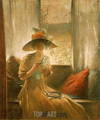 The Gossip, 1912 | John White Alexander | Painting Reproduction