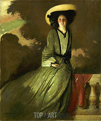 Portrait of Mrs. John White Alexander, 1902 | John White Alexander | Painting Reproduction
