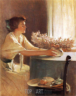A Meadow Flower, 1912 | John White Alexander | Painting Reproduction
