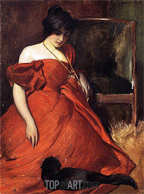 Black and Red, 1896 | John White Alexander | Painting Reproduction