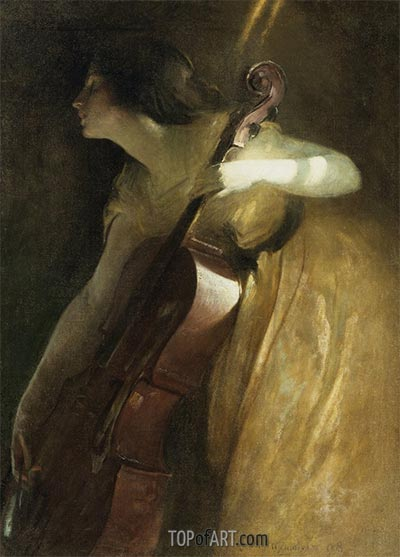 A Ray of Sunlight (The Cellist), 1898 | John White Alexander | Painting Reproduction