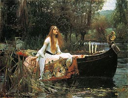 The Lady of Shalott, 1888 by Waterhouse | Painting Reproduction
