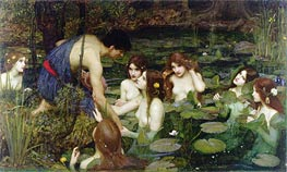 Hylas and the Nymphs, 1896 by Waterhouse | Painting Reproduction