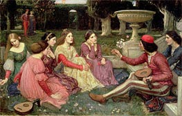A Tale from the Decameron, 1916 by Waterhouse | Painting Reproduction